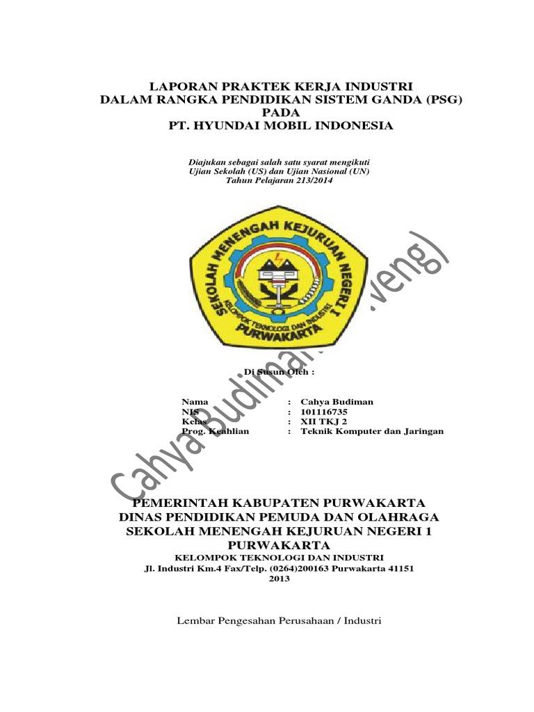 Laporan Psg Cahya Budiman 2013 Smkn 1 Purwakarta