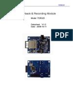 TDR025 Datasheet Draft