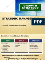 Strategic Choices- Growth Directions- Mar 13