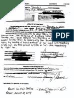 Zachary Adams Affidavit of Complaint