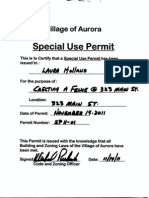 Permit for Fence
