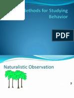methods for studying behavior