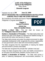 g. Ra 8749 an Act Providing for a Comprehensive Air Pollution Control Policy and for Other Purposes