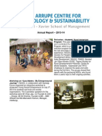 Fr Arrupe Center for Ecology & Sustainability (FACES), XLRI - Annual Report 13-14