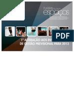 Alteração aos Instrumentos de Gestão Previsional 2013