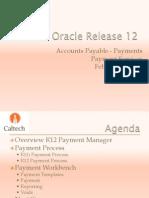 Procurement Oracle R12 Payments