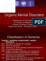 Organic Mental Disorders