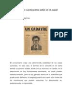 Bataille - Conferencia Sobre El No-saber