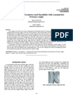 Analysis of Gear Geometry and Durability With Asymmetric