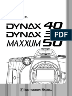 Dynax 40 Maxxum 50 E B users manual