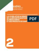 La Loi Relative Au Renforcement de La Securite Sanitaire Du Medicament Cahier 2