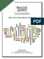 peer mentors handbook 2013