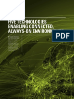 Five Technologies Enabling Connected, Always-on Environments   By Sheldon Monteiro