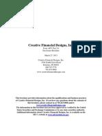 creative financial designs adv part ii 3-2013