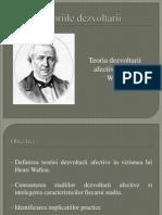 Dezvoltarea Afectiva in Viziunea Lui Henri Wallon