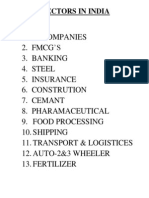 Sectors in India