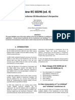 New Iec 60296 Ed 4 From a Transformer Oil Manufactures Perspective 2013-09-01