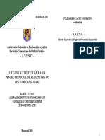 2010 Brosura - Legislatie Europeana Pentru S.a.a.C. - Directive Europene in Domeniul Apei