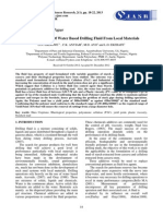 The Formulation of Water Based Drilling Fluid From Local Materials