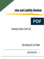 Directors Duties and Liability Seminar
