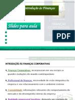 Cap 01 - Introdução às Finanças Corporativas