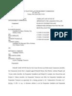 Councilwoman Beth Mason ELEC Complaint- 2009 Municipal