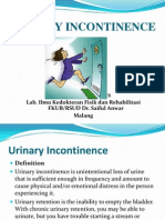 Urinary Incontinence Has Sesven Types