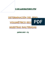 DETERMINACIÓN DEL PESO VOLUMÉTRICO SECO EN MUESTRAS INALTERADAS 2