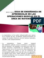 ESTRATEGIA DE ENSEÑANZA DE APRENDIZAJE DE LAS OPERACIONES