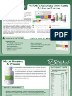 ViSalus Sciences Product Descriptions, Nutritional Profiles and Ingredients