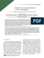 O plágio acadêmico como um problema ético jurídico e pedagógico