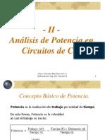 TEMA II - Teoría CA - Análisis de Potencia en Circuitos de CA