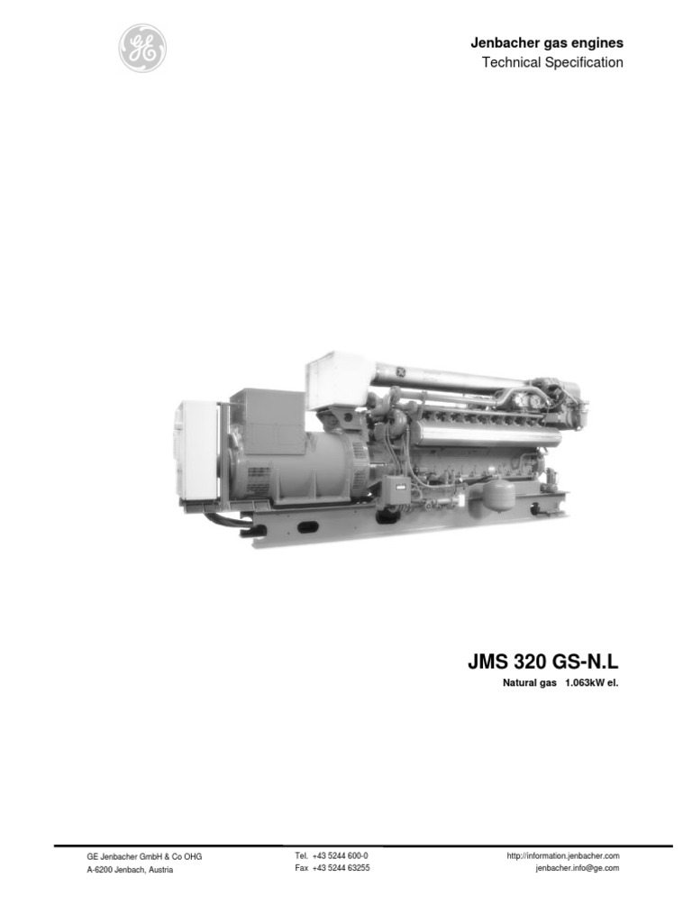Jenbacher 320 | Engines | Natural Gas