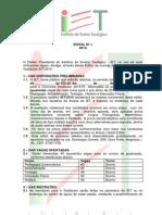 Edital Iet 2014