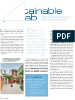 Sanctuary magazine issue 9 - Sustainable prefab - green home feature article