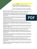 Lista maestra área mecánicaNIPOLET Y NIPLE SWAGE