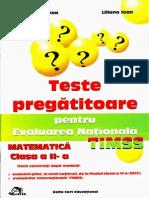 Teste pregatitoare pentru evaluarea nationala TIMSS matematica clasa a II-a
