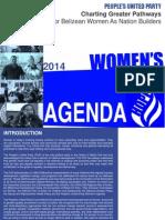 PUP Women's Agenda 2014