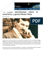10 Cosas de Nikola Tesla