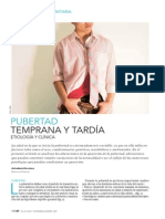 Pubertad Temprana y Tardia