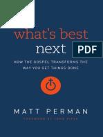 Whats Best Next by Matt Perman (Excerpt)