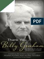 Thank You, Billy Graham  - Sample