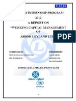 Working Capital Management of Ashok Leyland