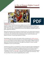 Sri Lanka Under Fire at Human Rights Council