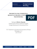 PROSPECTS FOR UNFREEZING MOLDOVA'S FROZEN CONFLICT IN TRANSNISTRIA
