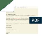 Modelo de Carta de Justificativa
