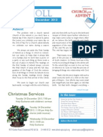 Scroll Dec 2013, news from Advent Episcopal Church in St. Louis