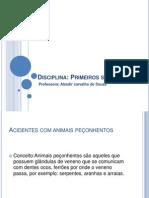 AULA powerpoint - ANIMAIS PEÇONHENTOS (1)