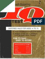 Cambridge Self-Scoring IQ Test