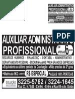 Anuncio de Jornal Adm Profissional Fevereiro 2014